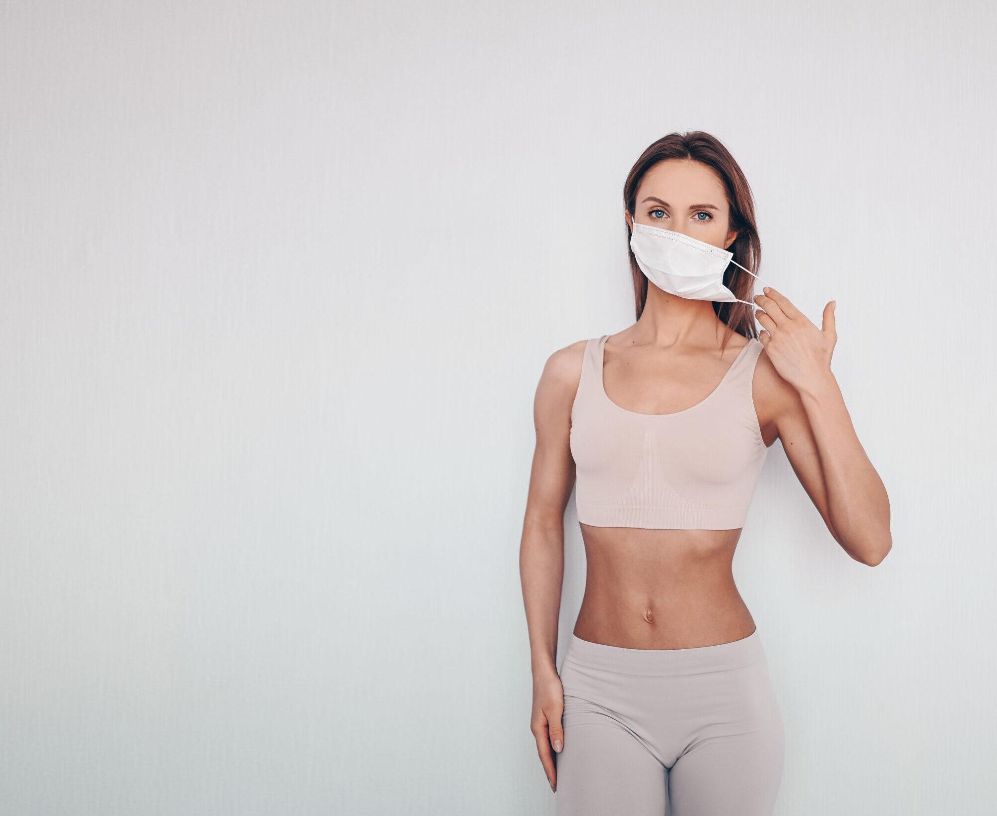 Oprema za vežbanje: Patike, odeća, peškir i maska